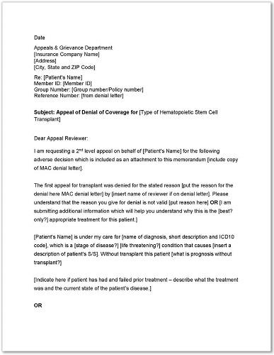 Standard Medicare Appeal Letter Templates