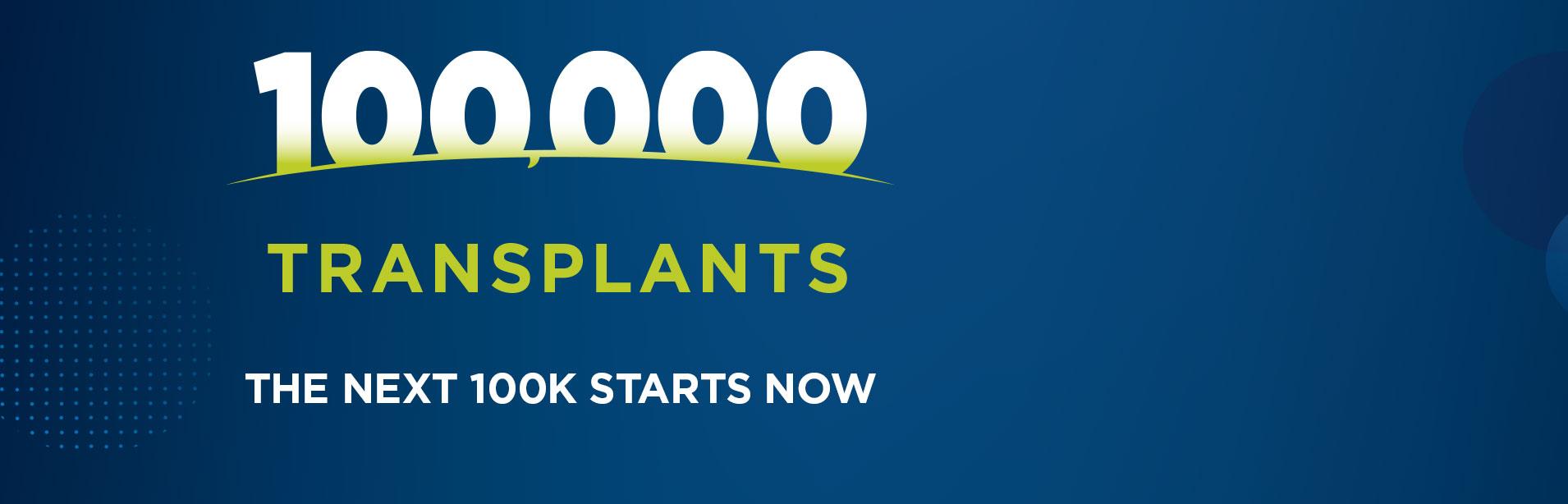 100,000 Transplants