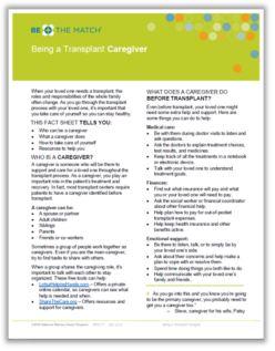 Caregiving Fact Sheet